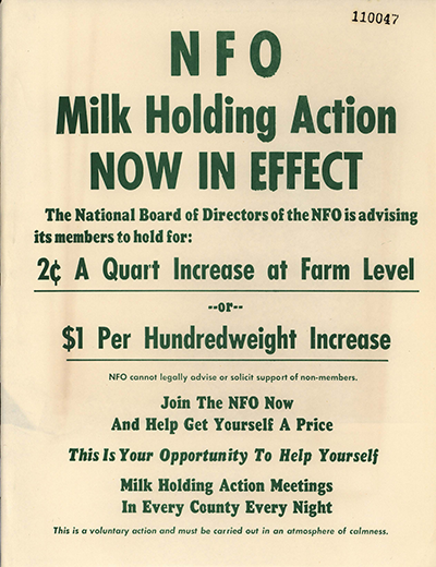 NFO Milk Holding Action Now in Effect