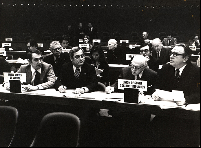 Mezvinsky at a meeting of the United Nation