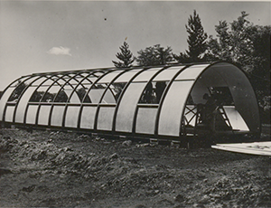Quonset Hut Under Contruction