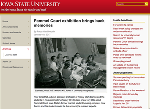 Media about Pammel Court Physical Exhibit