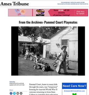 From the Archives: Pammel Court Playmates